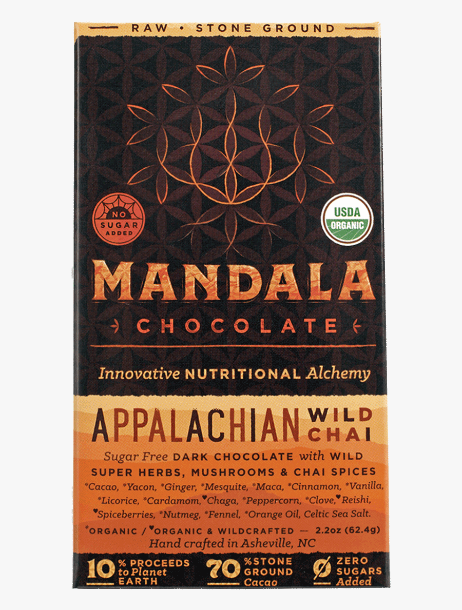 Chocolate Bar Mandala Chocolate Appalachian Chai - Poster, Transparent Clipart
