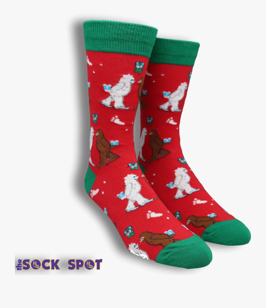 Mythical Kissmas Christmas Socks By Socksmith - Sock, Transparent Clipart