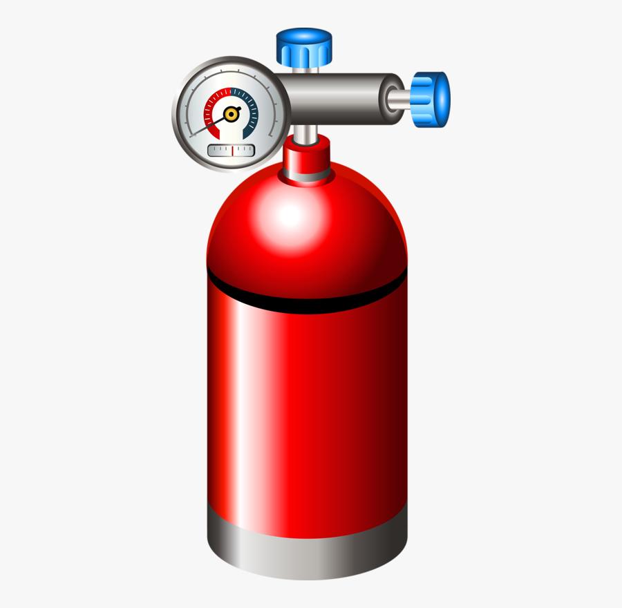 Fire Extinguisher Cartoon Oxygen Tank Cylinder Free Transparent Clipart Clipartkey