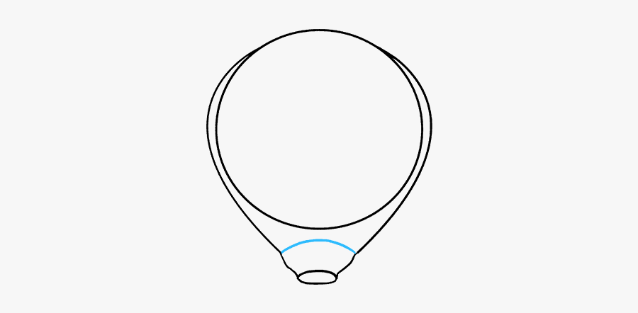 How To Draw Hot Air Balloon, Transparent Clipart