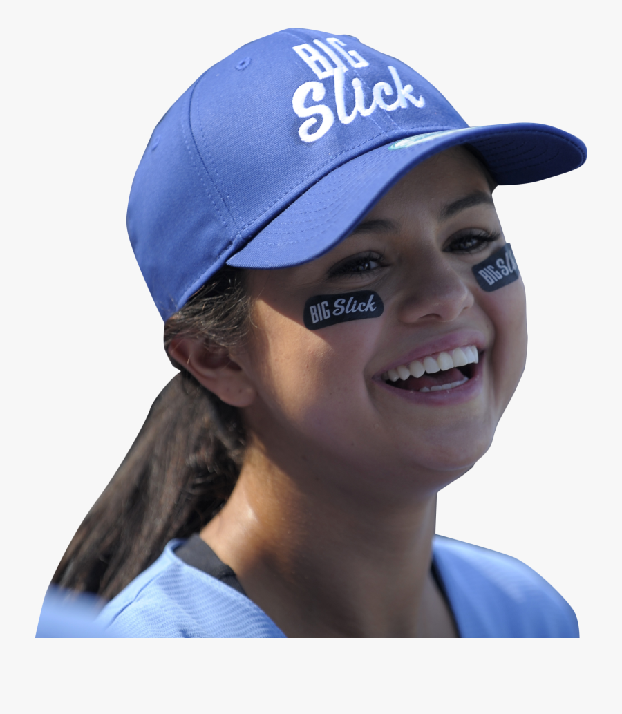 Selena Gomez Playing Png Image - Selena Gomez With Cap, Transparent Clipart