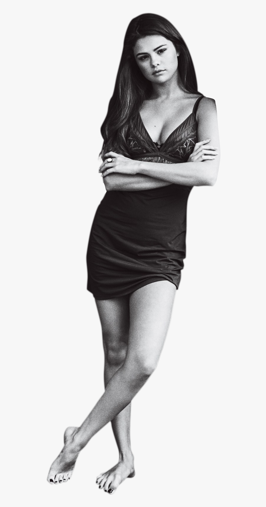 Selena Gomez Black And White Png Image - Selena Gomez Transparent Background, Transparent Clipart