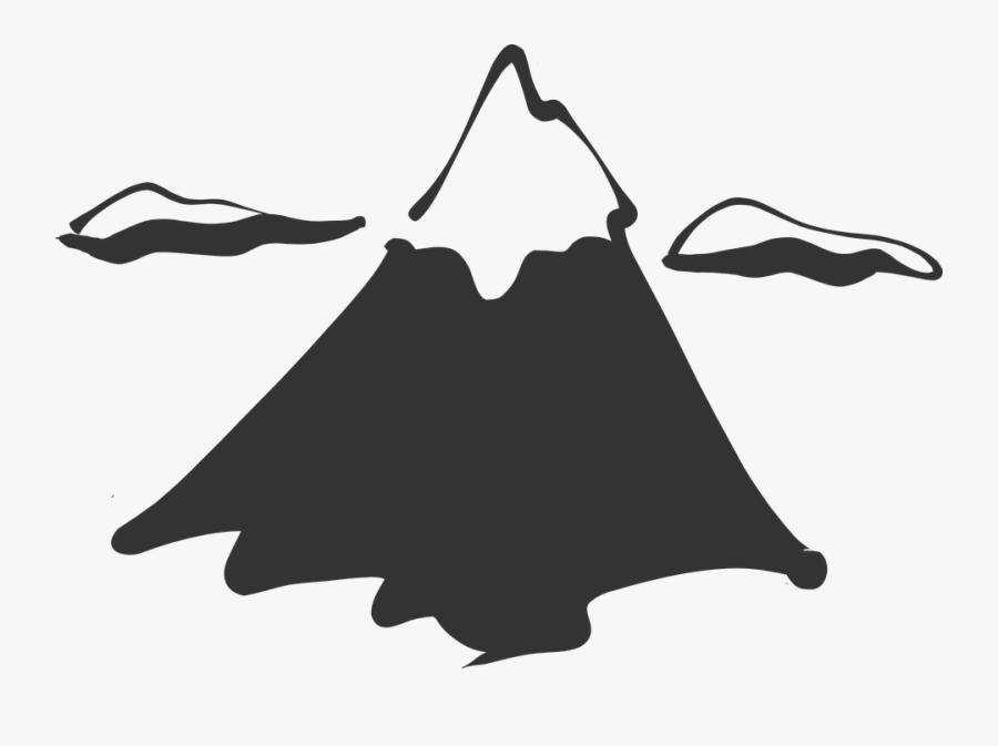 Mountain, Peak, Clouds, Snow, Ice, High, Grand - Mountain Clip Art, Transparent Clipart