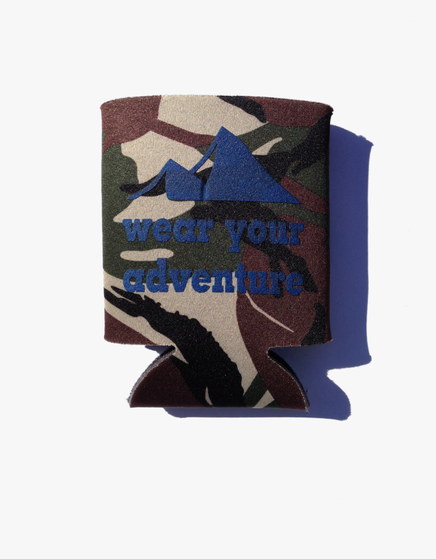 Creek To Peak Koozie Mountain Camo - Leather, Transparent Clipart