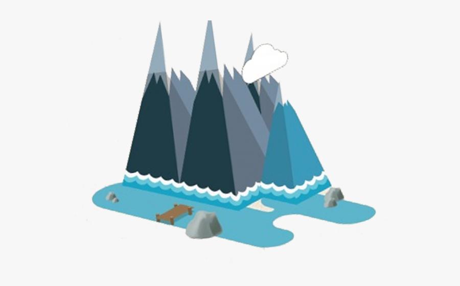 Peak Clipart Blue Mountain - Illustration, Transparent Clipart