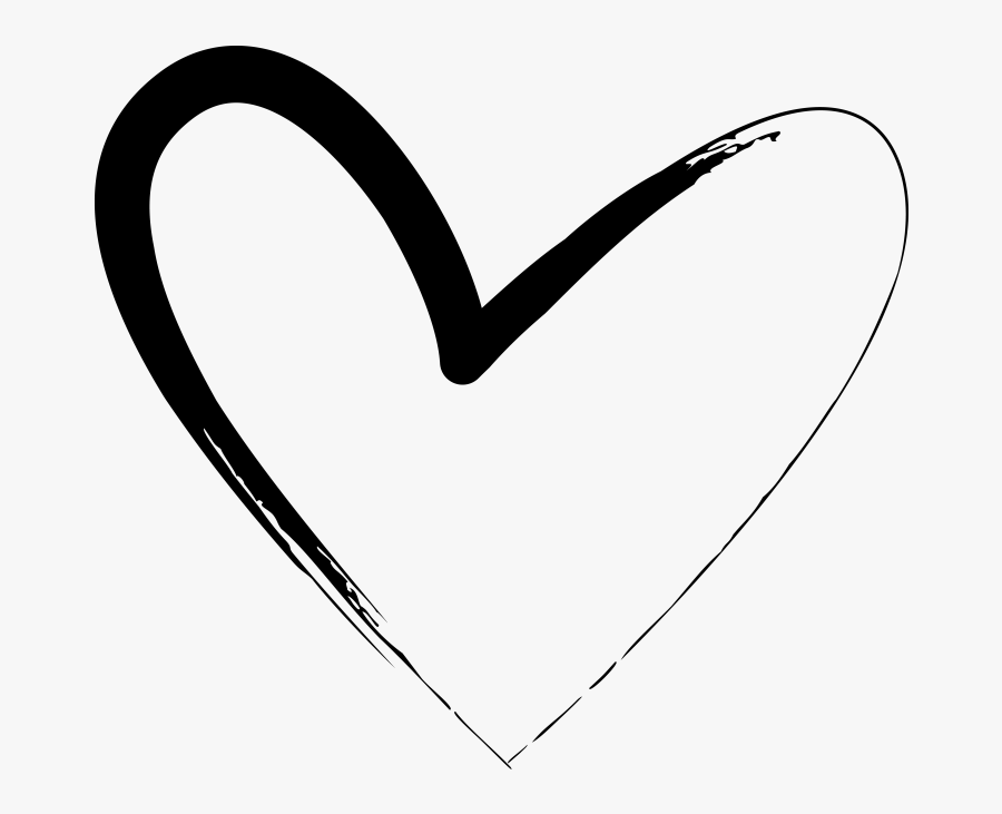 Transparent Heart Drawings Png - Hand Drawn Heart Clipart Drawing, Transparent Clipart