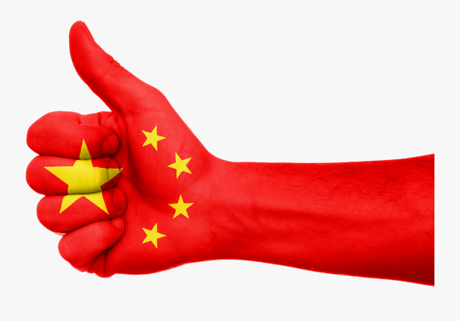 China Flag Hand Thumbs Up Png Image - China Flag Thumbs Up, Transparent Clipart