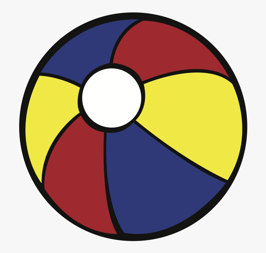 Beach Ball Free Picture Of Clip Art Transparent Png - Free Beach Ball Svg, Transparent Clipart