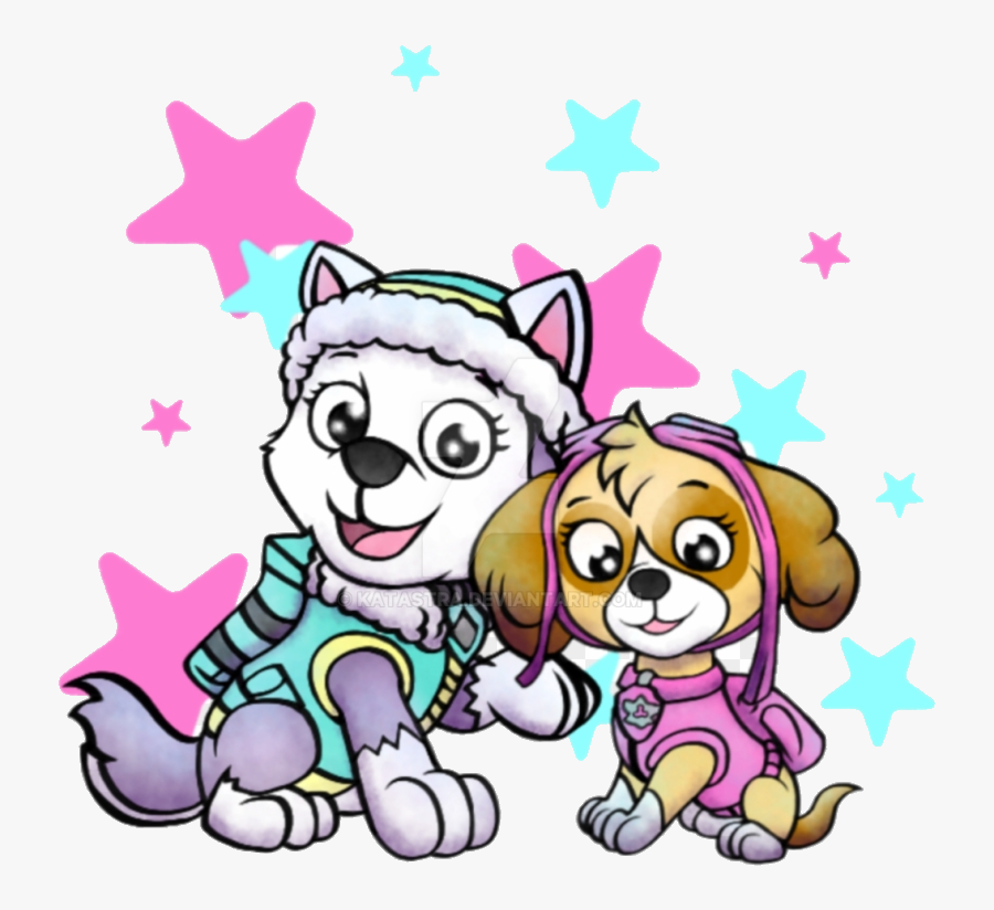 Paw Patrol Miguel-mickey Girls By Katastra Skye And - Paw Patrol Girls Svg, Transparent Clipart