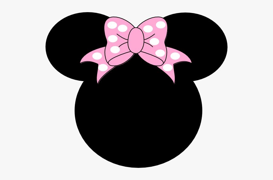 Png Panda Free Images - Minnie Mouse Orange Bow, Transparent Clipart