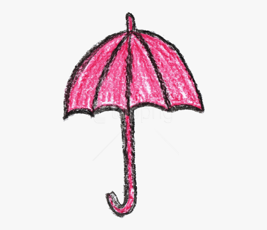 Free Png Crayon Umbrella Drawing Png - Crayon Drawing Of Umbrella, Transparent Clipart