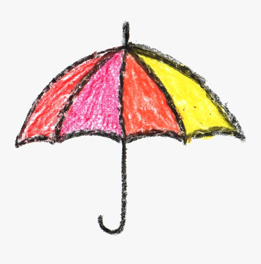 Umbrella Png Transparent - Crayon Drawing Transparent Background, Transparent Clipart