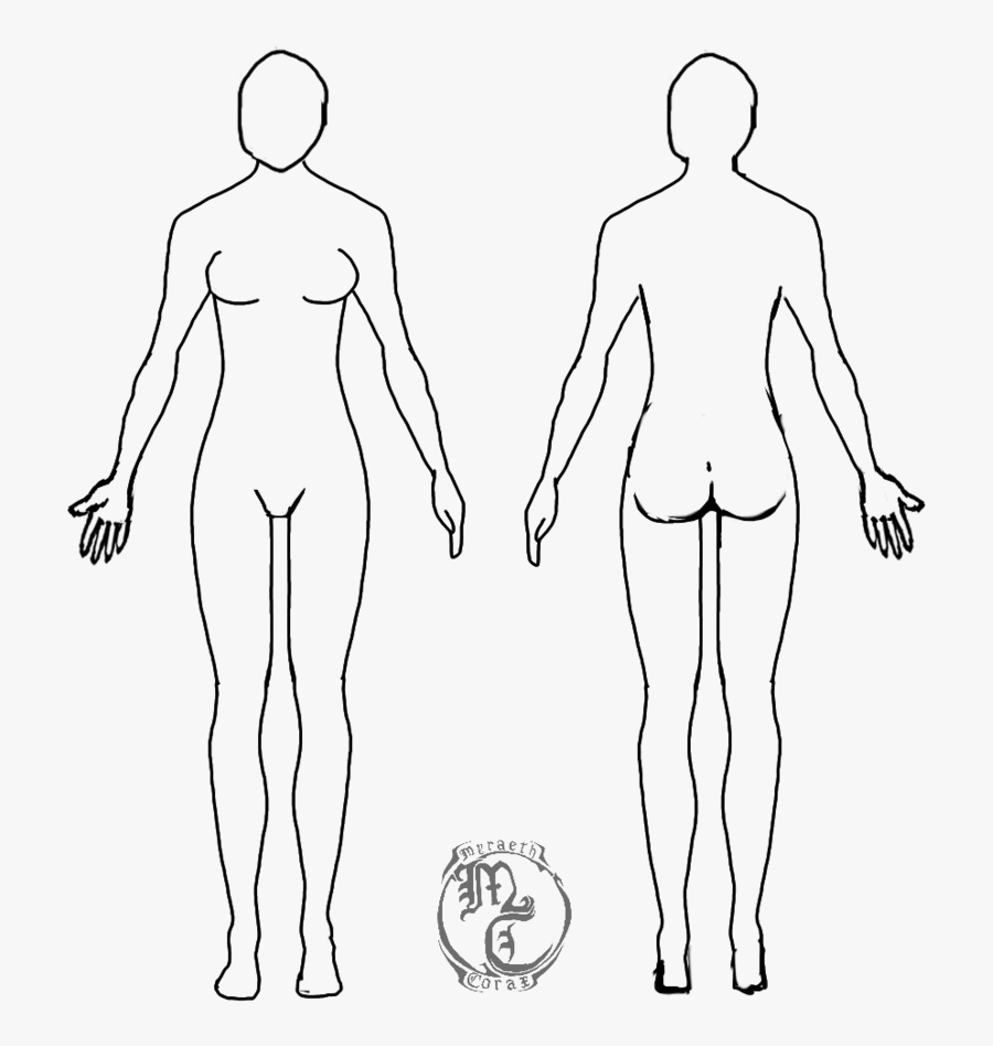 Clip Art Blank Body Outline Blank Female Body Template Free Transparent Clipart Clipartkey