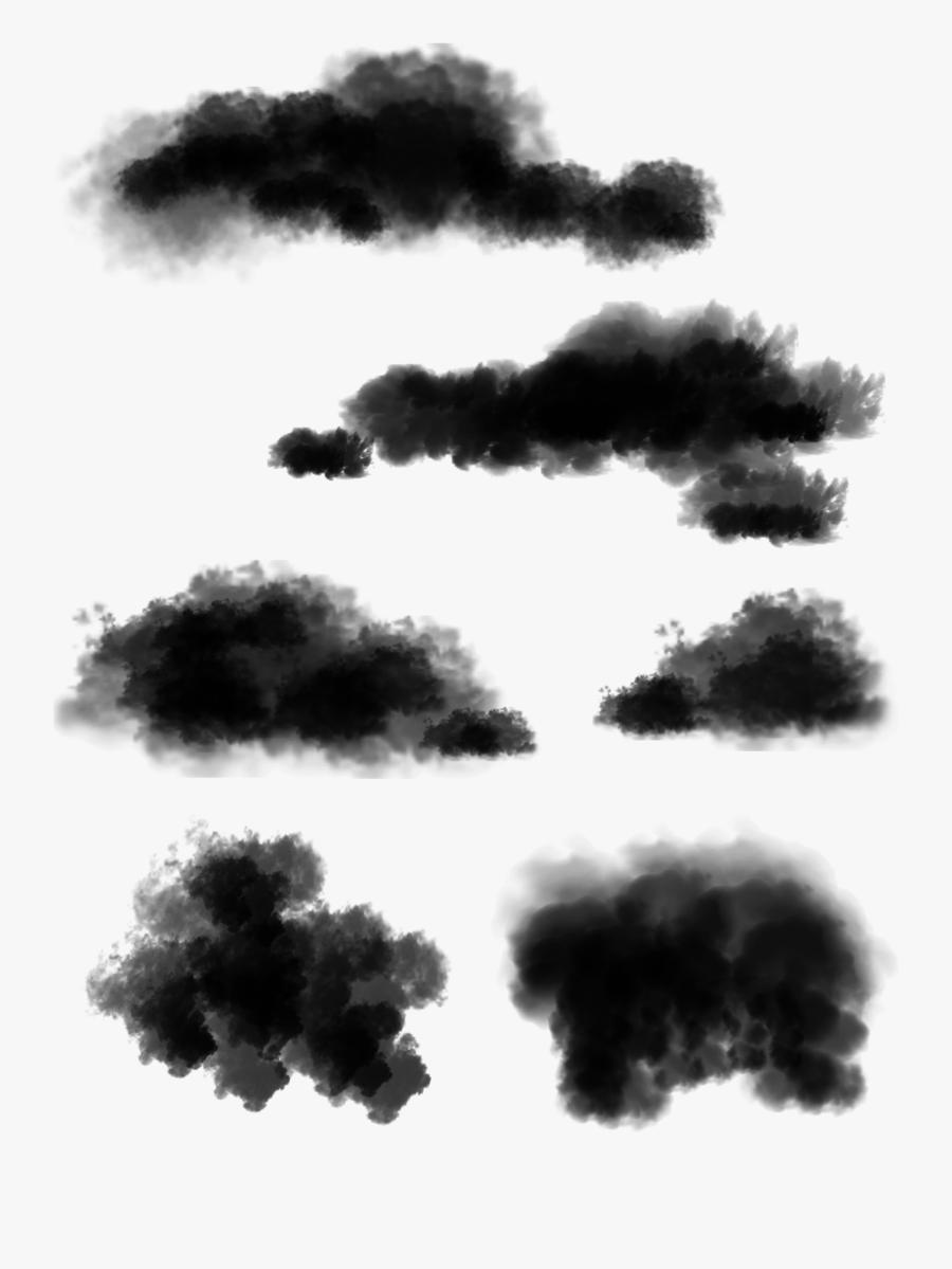 Original Ink Smoke Cloud Png And Psd Monochrome- - Monochrome, Transparent Clipart