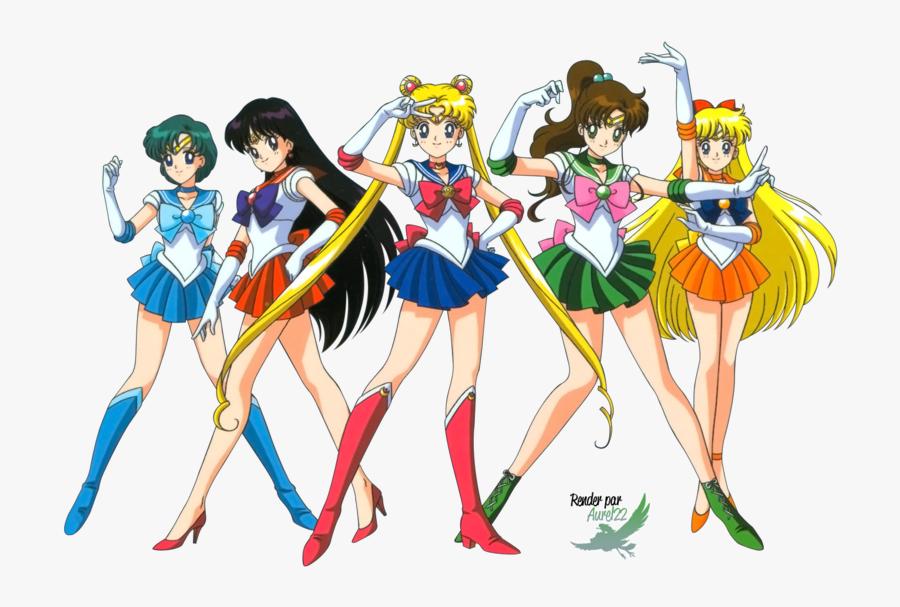Sailor Moon All Girls, Transparent Clipart