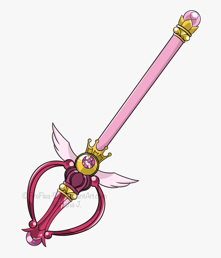 Sailor Moon Moon Stick Png - Sailor Moon Magic Wand Anime, Transparent Clipart