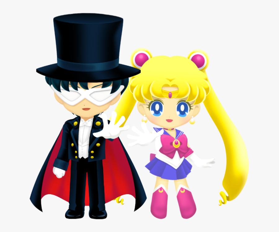 Sailor Moon Drops Sailor Moon Drops Usagi And - Tuxedo Mask Sailor Moon Drops, Transparent Clipart