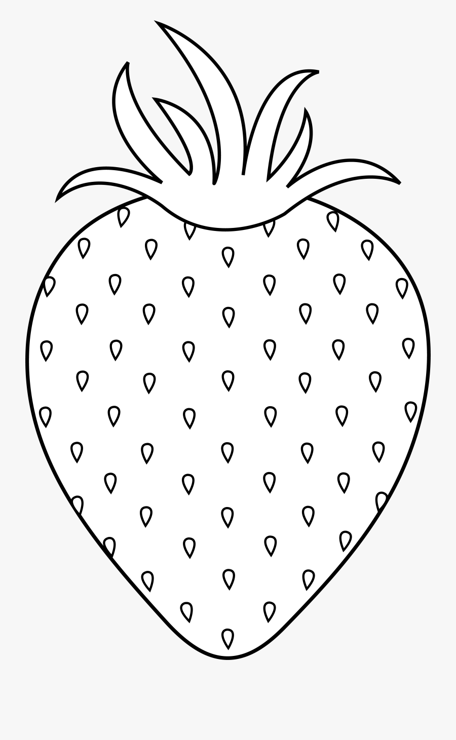Clipart Black And White Strawberry - Seedless Fruit, Transparent Clipart