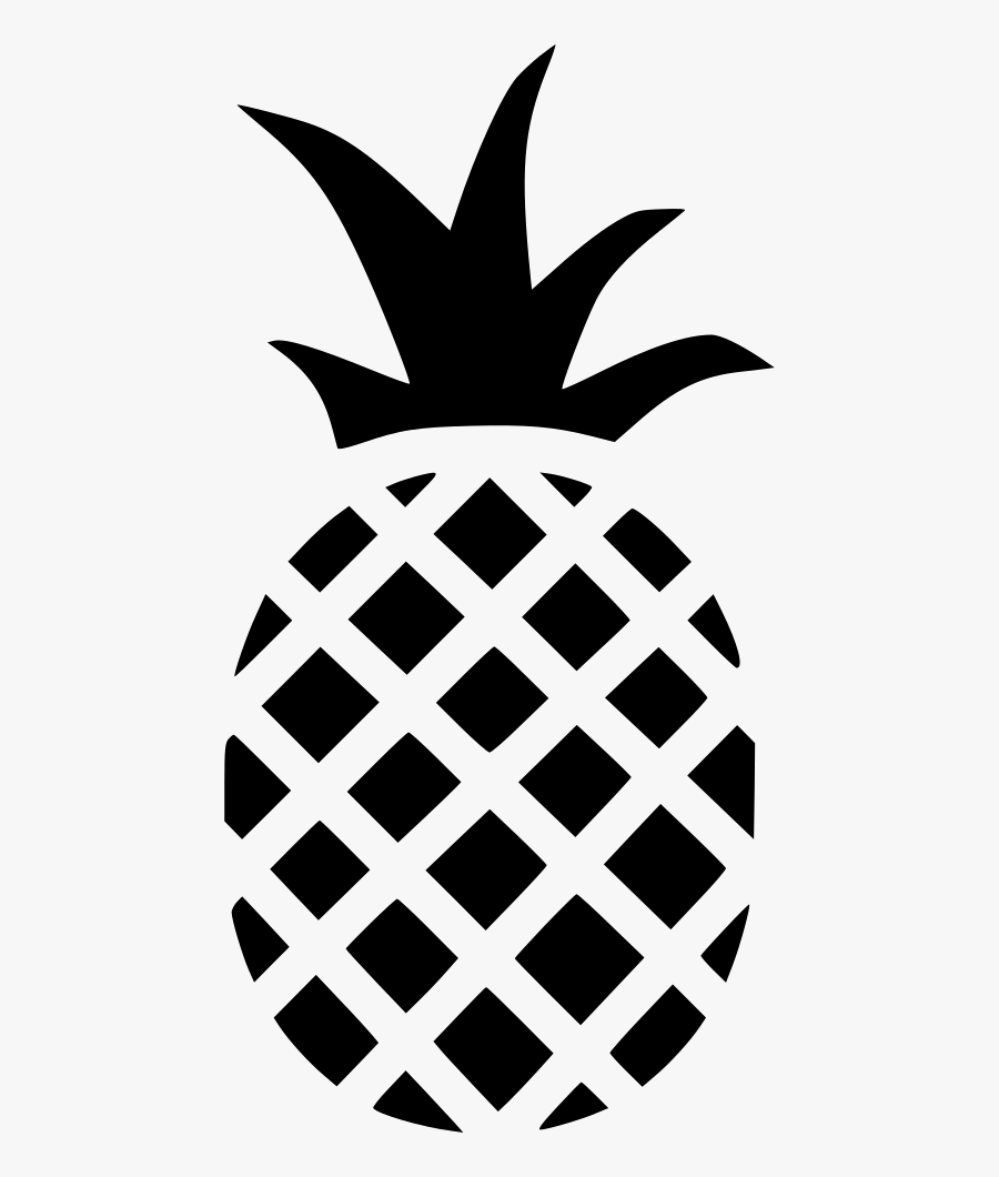 Clip Art Tropical Png Icon Download - Outline Pineapple Clipart Png, Transparent Clipart