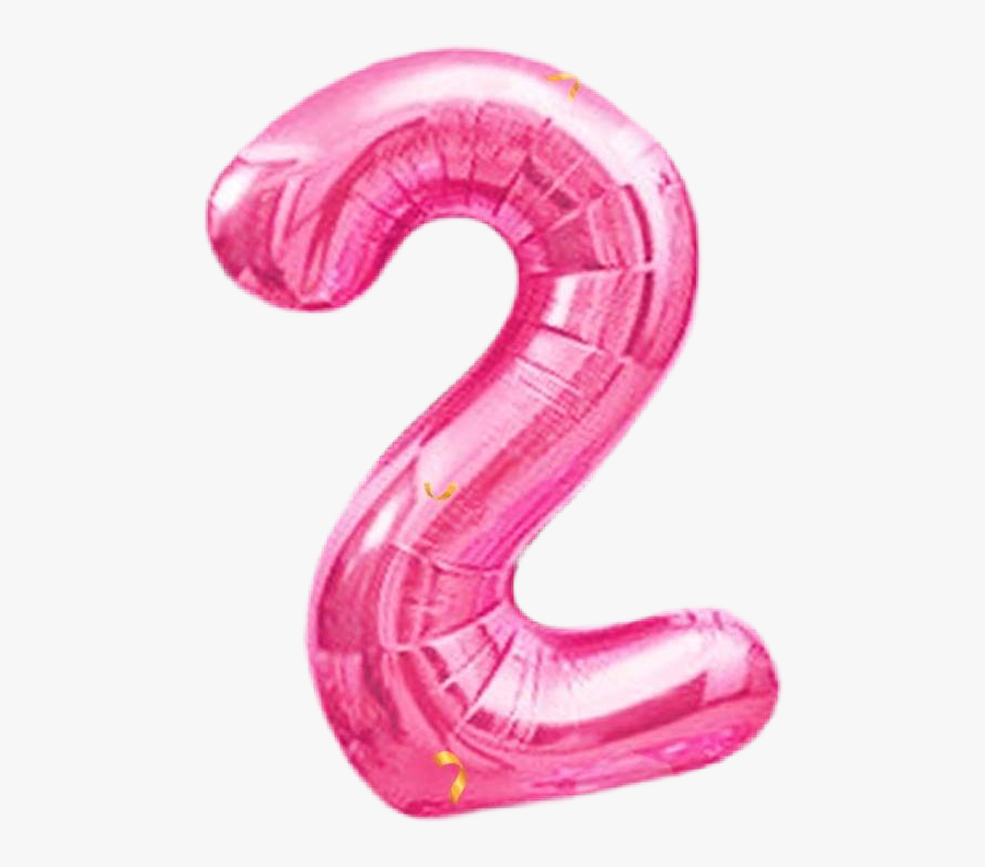 #numbers #two #pink #balloons #pinkballoons #picsart - Illustration, Transparent Clipart