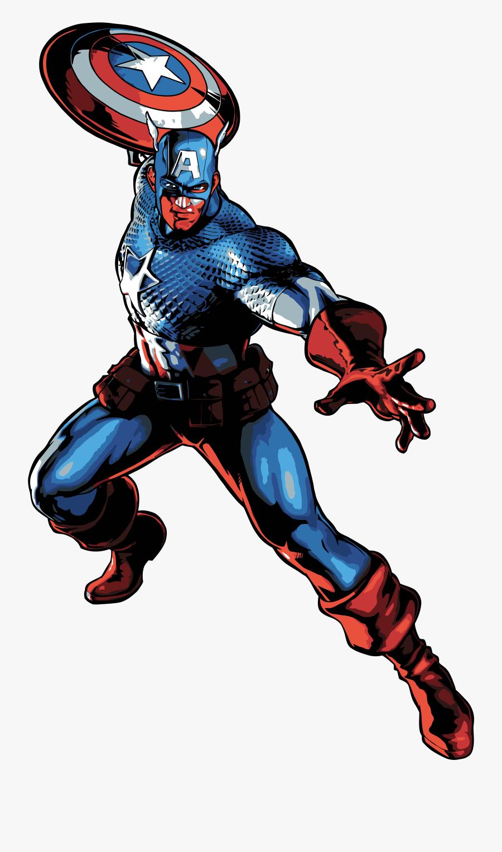 Captain America Cartoon Png - Captain America Marvel Vs Capcom 3 Png, Transparent Clipart