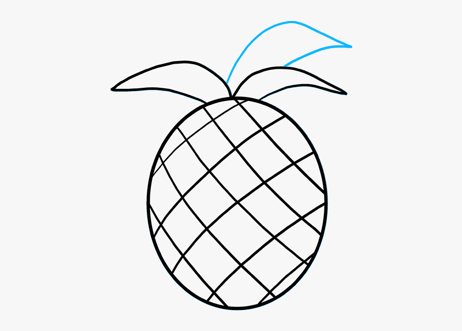 How To Draw Pineapple - Draw Pineapple, Transparent Clipart