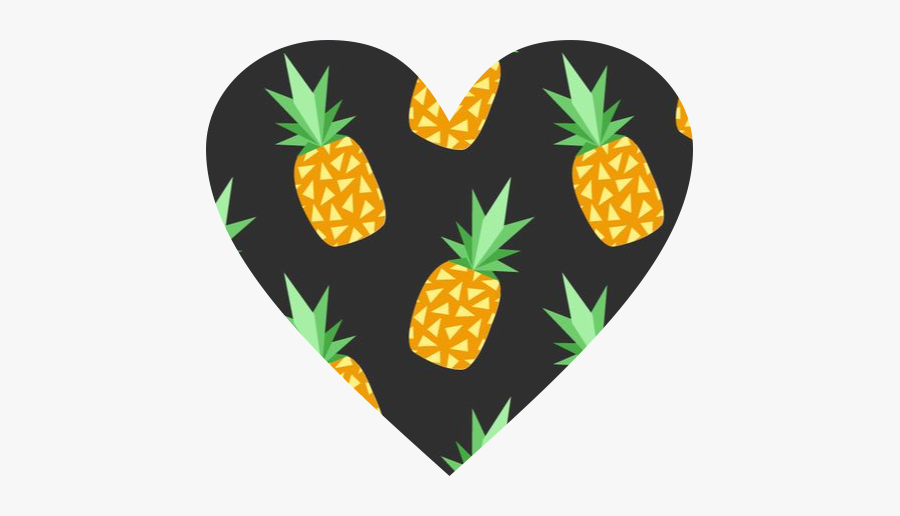 #heart #pineapple #pineapples #black #orange #yellow - 19 Piñas, Transparent Clipart