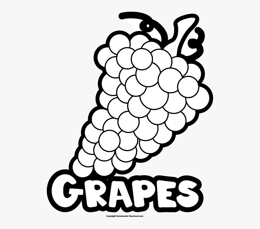 Black And White Grapes, Transparent Clipart