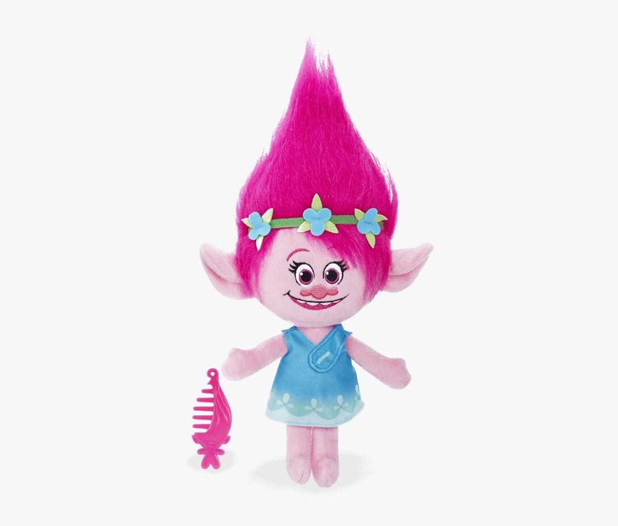 Sprechender Plüsch Poppy - Princess Poppy Troll Doll, Transparent Clipart