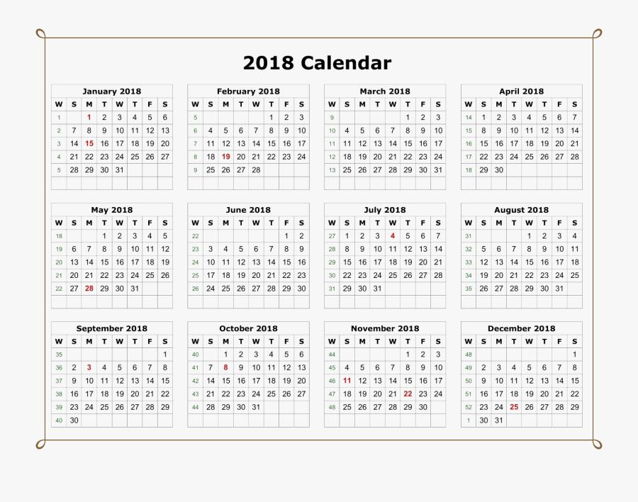 May Clipart Calendar Page - 12 Month 2020 Calendar Printable, Transparent Clipart