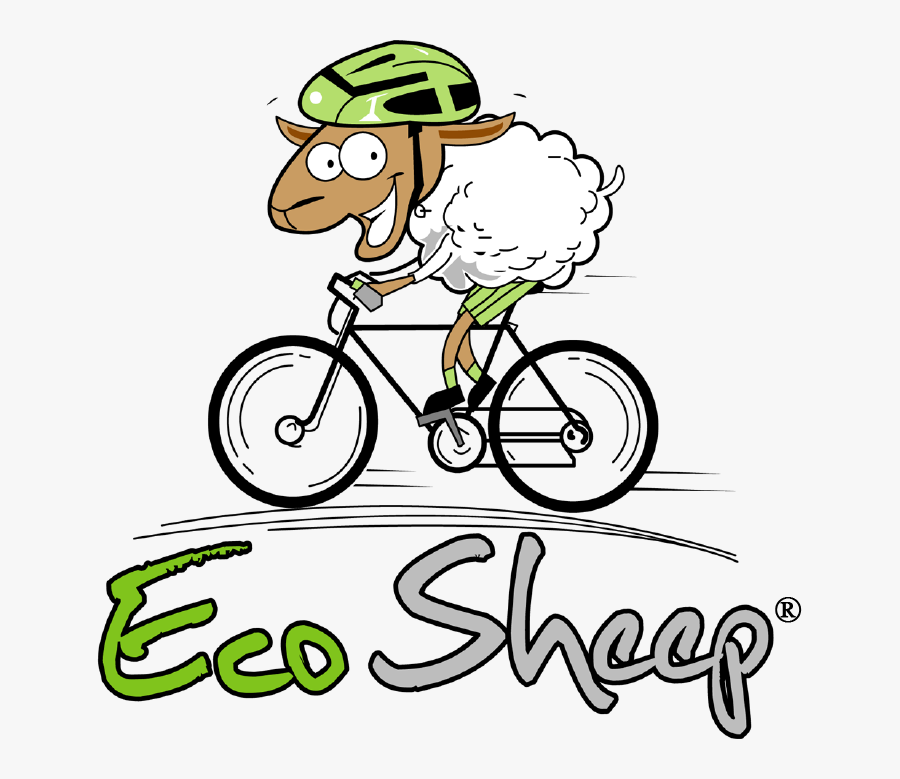 We Did Because Of Riders Like You - Sheep Riding A Bicycle, Transparent Clipart