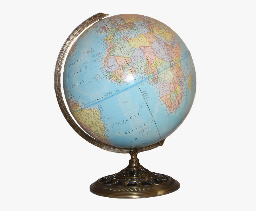 World Map Globe Png, Transparent Clipart