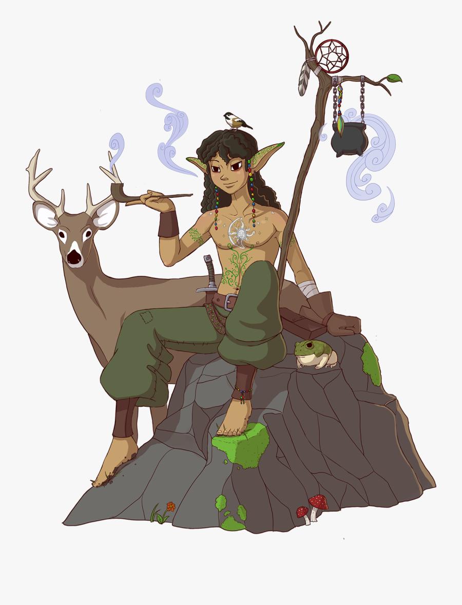 Transparent Elves Png - Wood Elf Hippie, Transparent Clipart