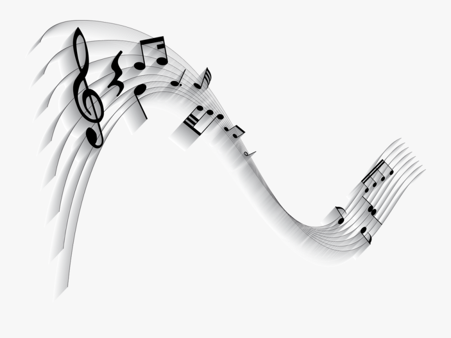 Music Notes Background, Transparent Clipart