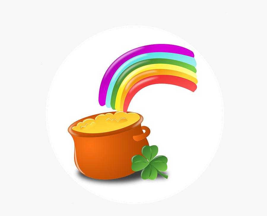 Irish Cross Dark Luck Of The Irish Pot Of Gold - Free Clip Art St Patty's Day, Transparent Clipart