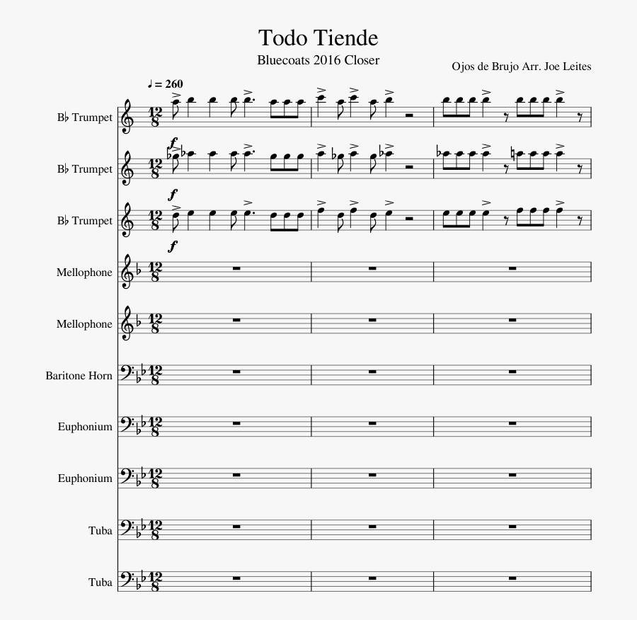 Todo Tiende Sheet Music Composed By Ojos De Brujo Arr - Africa By Toto Tenor Sax Sheet Music, Transparent Clipart