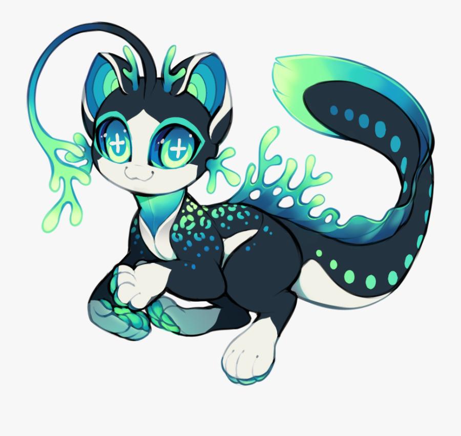 #ftestickers #creature #cat #fantasy #mermaid #mercat - Mermaid Tail Mer Cat, Transparent Clipart