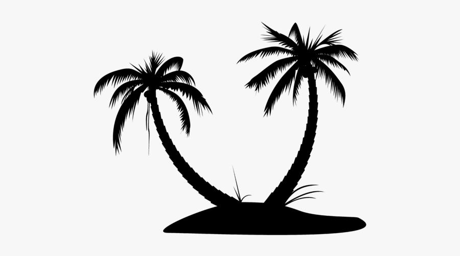 Silhouette Palm Tree Island - Ocean View Beach Resort Kalpitiya, Transparent Clipart