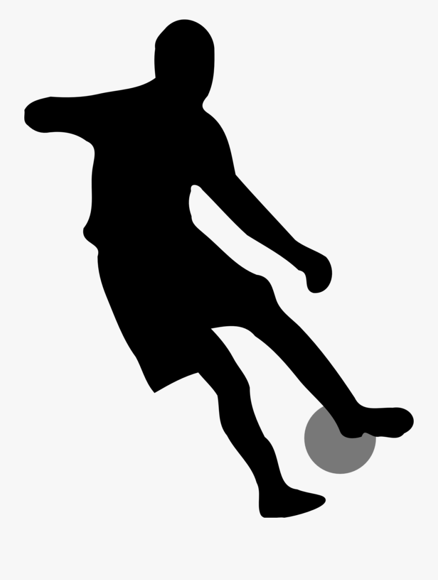 Standing,human Behavior,silhouette - Soccer Player Silhouette No Background, Transparent Clipart