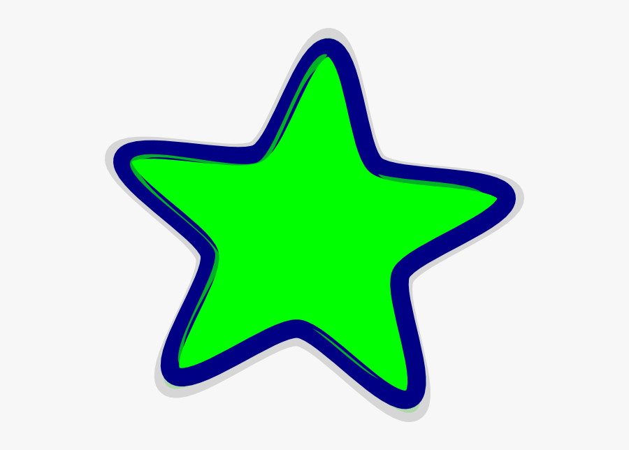 Greenstar Svg Clip Arts - Green Star Clip Art, Transparent Clipart