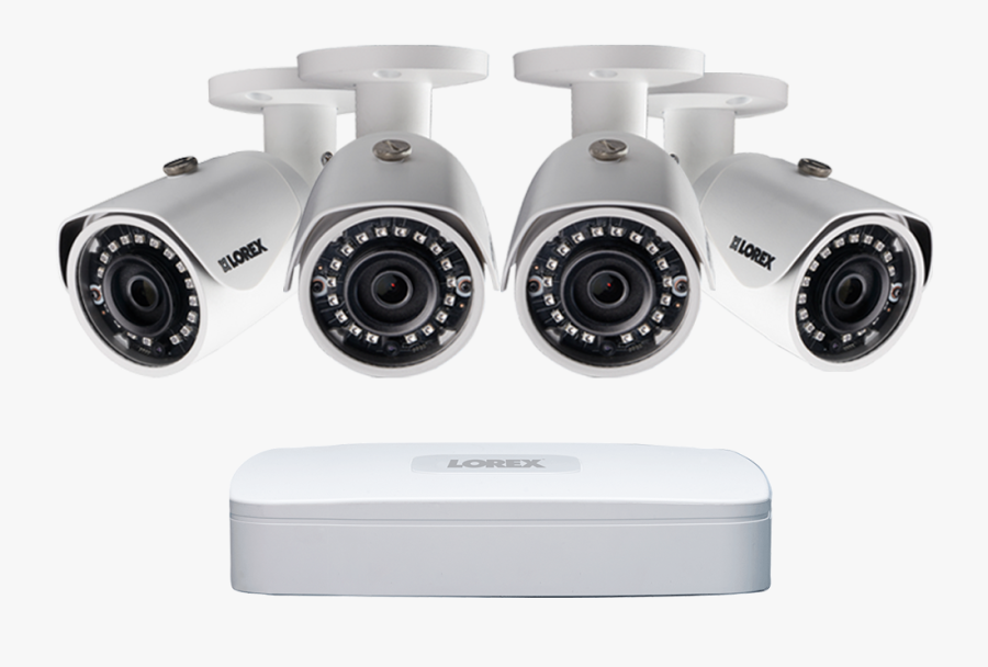 2k Ip Security Camera System With 4 Channel Nvr And - Ip Security Cameras, Transparent Clipart