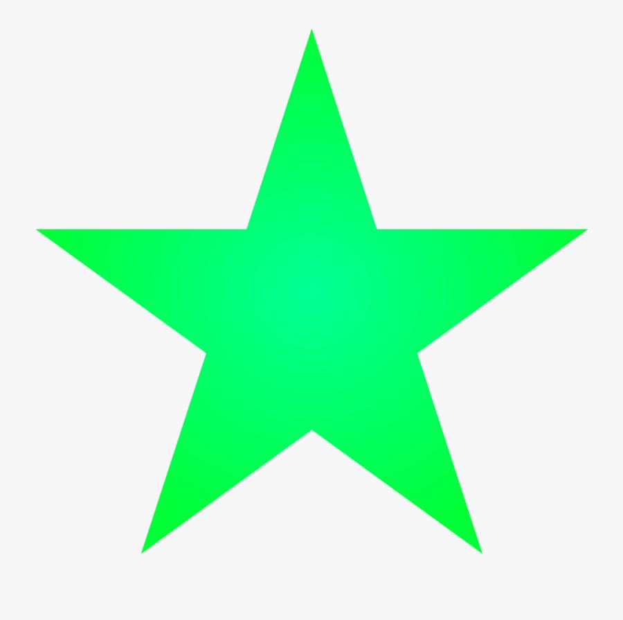 Transparent Green Star Clipart - Green Star, Transparent Clipart