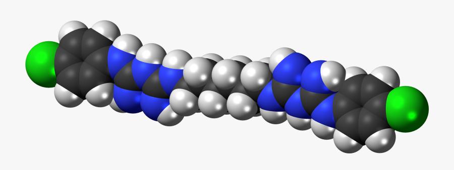 Chlorhexidine 3d Spacefill - Pincushion Effect Of Chlorhexidine, Transparent Clipart