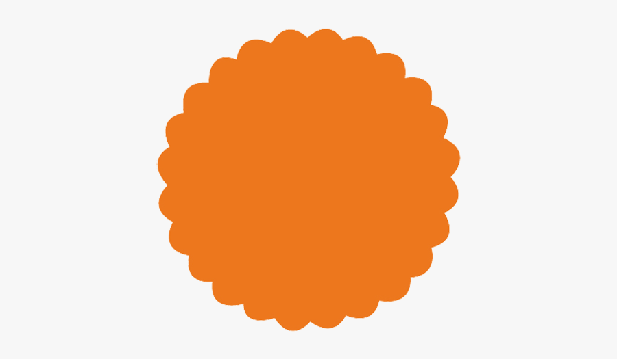 Scalloped Circle Png - Escalope Redondo Png, Transparent Clipart