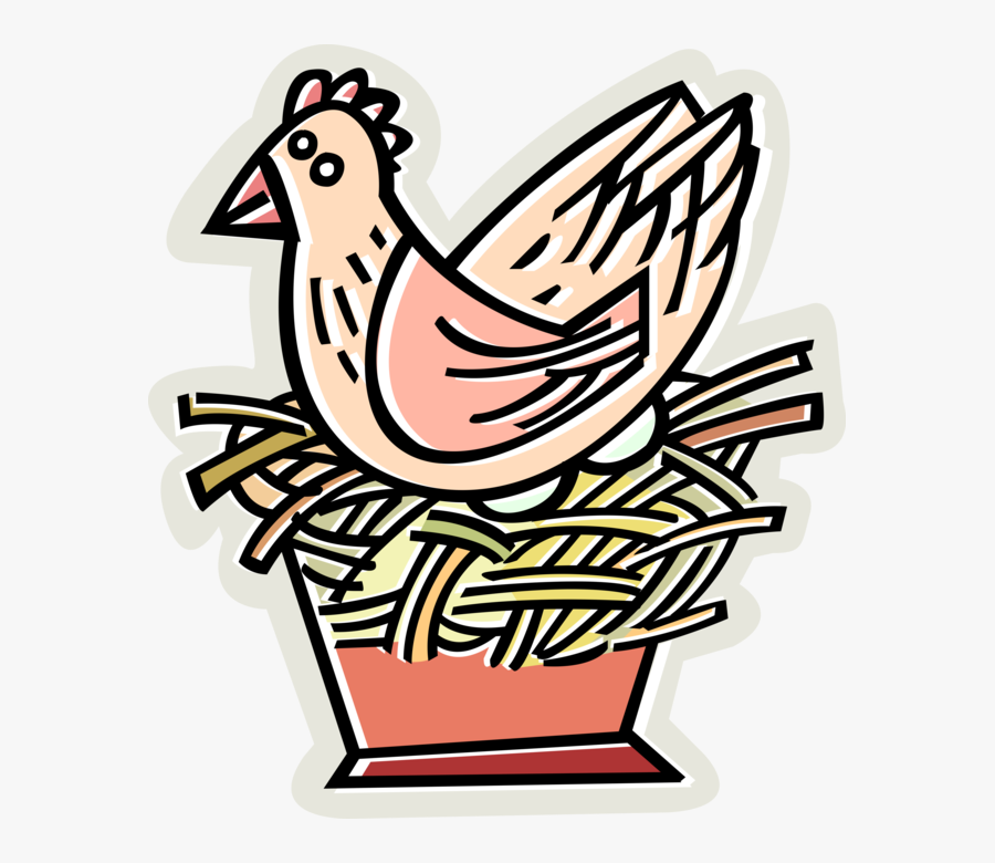 Transparent Nest With Eggs Clipart - Sly Fox And The Red Hen Worksheet, Transparent Clipart