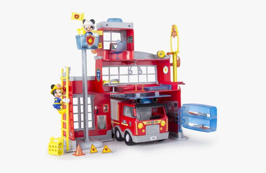 Mickey To The Rescue Fire Station - Juguete Estacion De Bomberos, Transparent Clipart