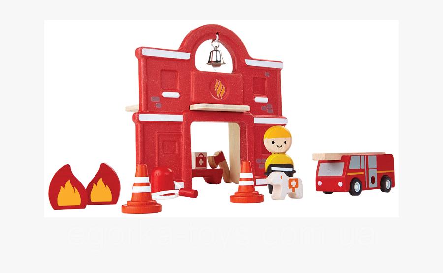Деревянный Игровой Набор Plan Тoys Пожарная Часть - Plan Toys Fire Station, Transparent Clipart