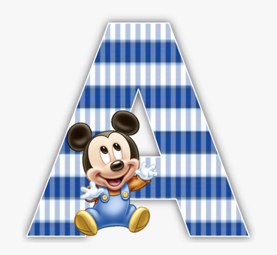 Baby Mickey Mouse 1st Birthday Party Alphabet & Numbers - Mickey Mouse Bebe 7, Transparent Clipart