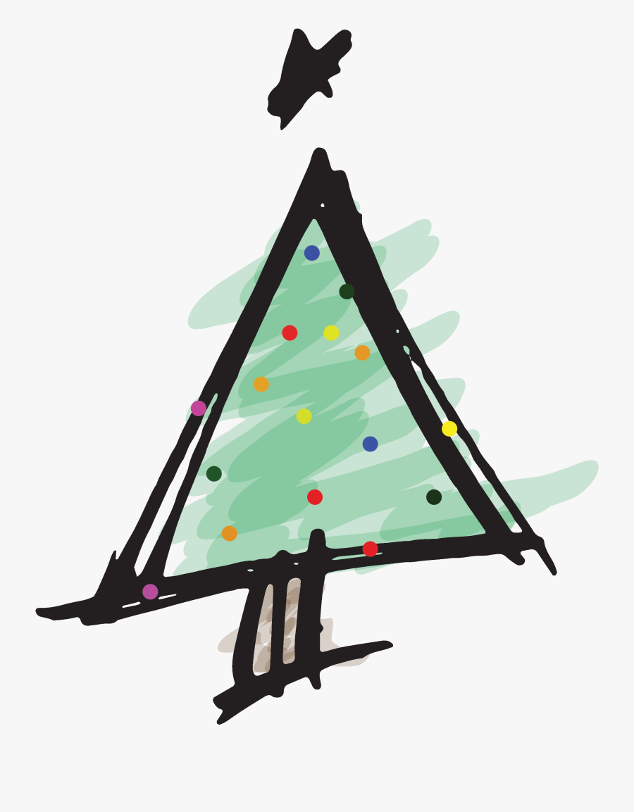 Christmas Tree, Transparent Clipart
