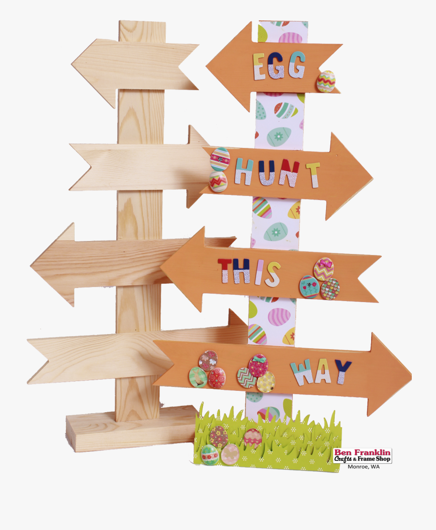 We Just Painted The Arrows Of Our Directional Sign - Transparent Clip Art Egg Hunting Frame, Transparent Clipart